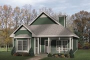 Country Style House Plan - 2 Beds 1 Baths 1285 Sq/Ft Plan #22-220 Exterior - Front Elevation