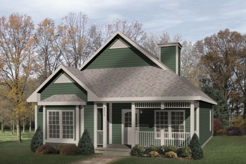 Country Exterior - Front Elevation Plan #22-220
