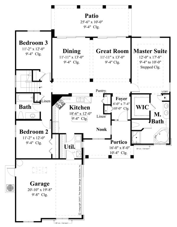 House Plan Design - Traditional Floor Plan - Main Floor Plan #930-483