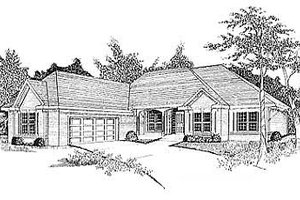 Traditional Exterior - Front Elevation Plan #70-304