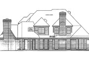 European Style House Plan - 4 Beds 5 Baths 4004 Sq/Ft Plan #310-951 Exterior - Rear Elevation