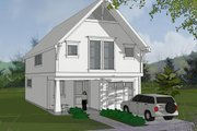 Craftsman Style House Plan - 3 Beds 2.5 Baths 1758 Sq/Ft Plan #48-490 Exterior - Front Elevation
