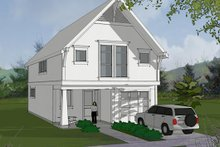 Architectural House Design - Craftsman Exterior - Front Elevation Plan #48-490