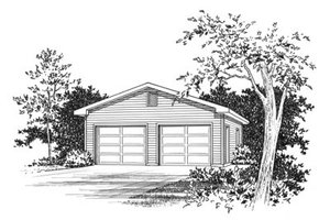 Traditional Exterior - Front Elevation Plan #22-410