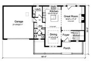 Traditional Style House Plan - 4 Beds 2.5 Baths 2076 Sq/Ft Plan #46-899 Floor Plan - Main Floor