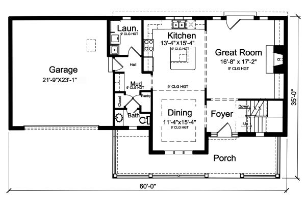 Traditional Floor Plan - Main Floor Plan Plan #46-899