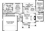 Craftsman Style House Plan - 3 Beds 2 Baths 1627 Sq/Ft Plan #21-364 Floor Plan - Main Floor