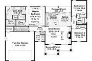 Craftsman Style House Plan - 3 Beds 2 Baths 1627 Sq/Ft Plan #21-364
