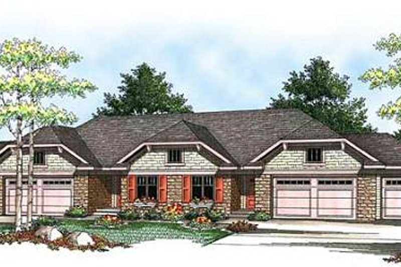 Ranch Exterior - Front Elevation Plan #70-940