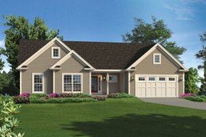 Ranch Exterior - Front Elevation Plan #57-654