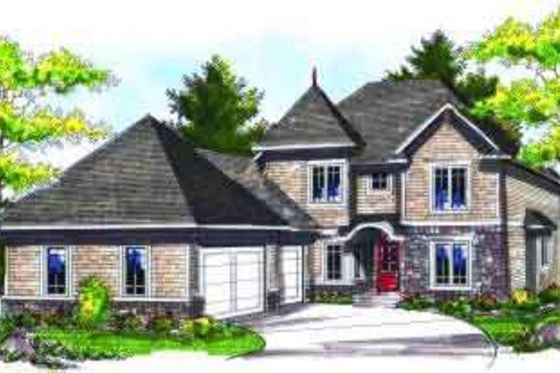 Architectural House Design - European Exterior - Front Elevation Plan #70-712