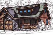 European Style House Plan - 3 Beds 2.5 Baths 1654 Sq/Ft Plan #17-2255 Exterior - Front Elevation