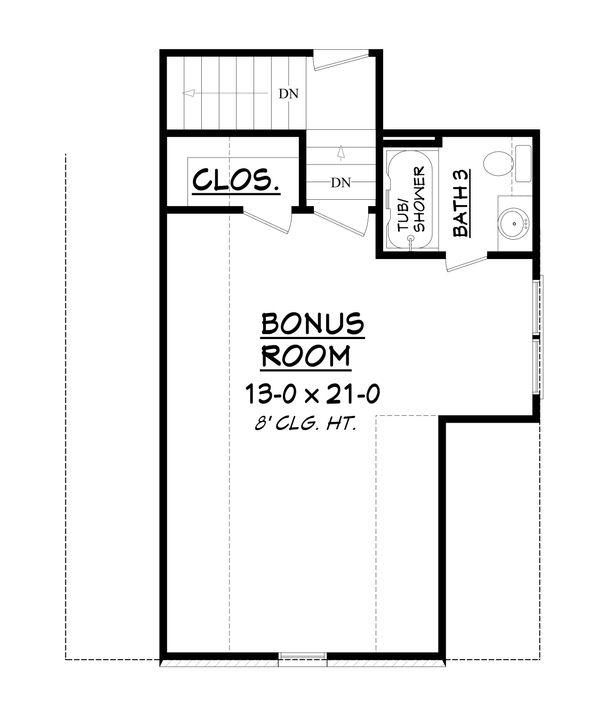 European Floor Plan - Upper Floor Plan Plan #430-107
