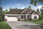 Ranch Style House Plan - 3 Beds 2 Baths 2191 Sq/Ft Plan #124-1165 Exterior - Front Elevation