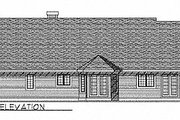 Traditional Style House Plan - 3 Beds 2.5 Baths 1868 Sq/Ft Plan #70-223 Exterior - Rear Elevation