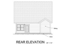 Craftsman Exterior - Rear Elevation Plan #513-12