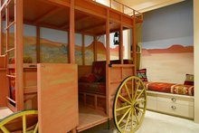 Kids bedroom with stage coach