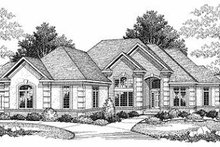 Dream House Plan - European Exterior - Front Elevation Plan #70-370