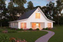 Modern farmhouse style plan, front