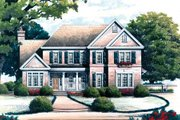 Colonial Style House Plan - 4 Beds 3.5 Baths 2400 Sq/Ft Plan #429-33 Exterior - Front Elevation