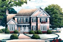 Colonial Exterior - Front Elevation Plan #429-33