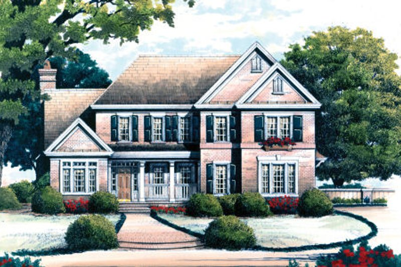 Dream House Plan - Colonial Exterior - Front Elevation Plan #429-33