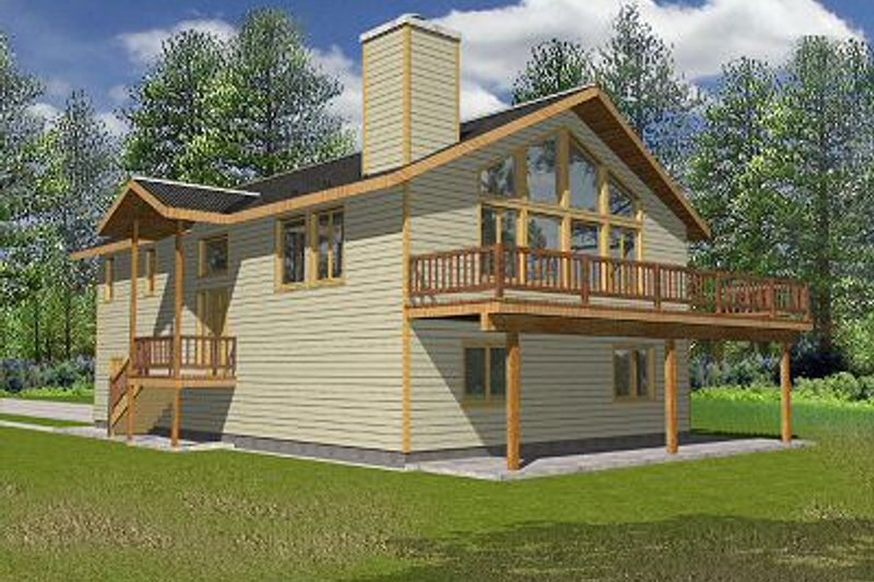 Traditional Exterior - Front Elevation Plan #117-516 - Houseplans.com