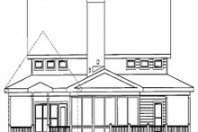 Home Plan - Farmhouse Exterior - Rear Elevation Plan #56-238