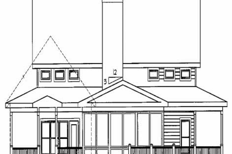 Farmhouse Exterior - Rear Elevation Plan #56-238 - Houseplans.com