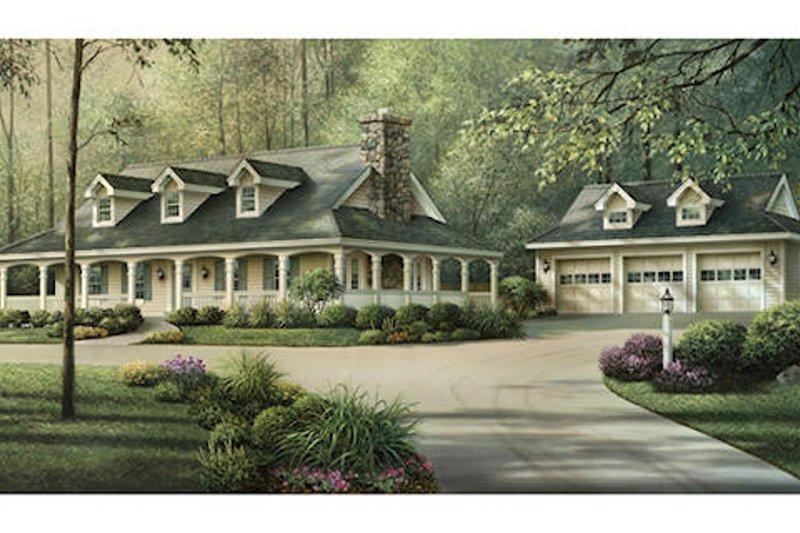 Traditional Southern Country Style Home Plan