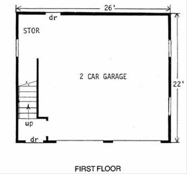 Country Floor Plan - Main Floor Plan #116-126
