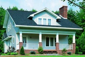 Cottage Exterior - Front Elevation Plan #72-126