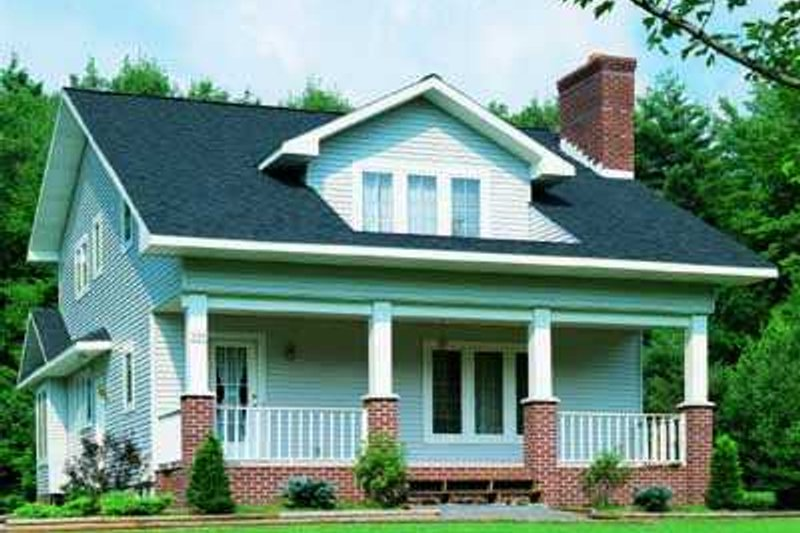 Cottage Style House Plan - 3 Beds 2.5 Baths 1997 Sq/Ft Plan #72-126 Exterior - Front Elevation