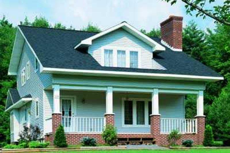 Dream House Plan - Cottage Exterior - Front Elevation Plan #72-126