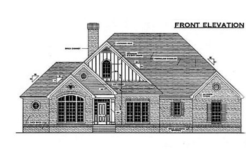 Traditional Exterior - Other Elevation Plan #406-295 - Houseplans.com