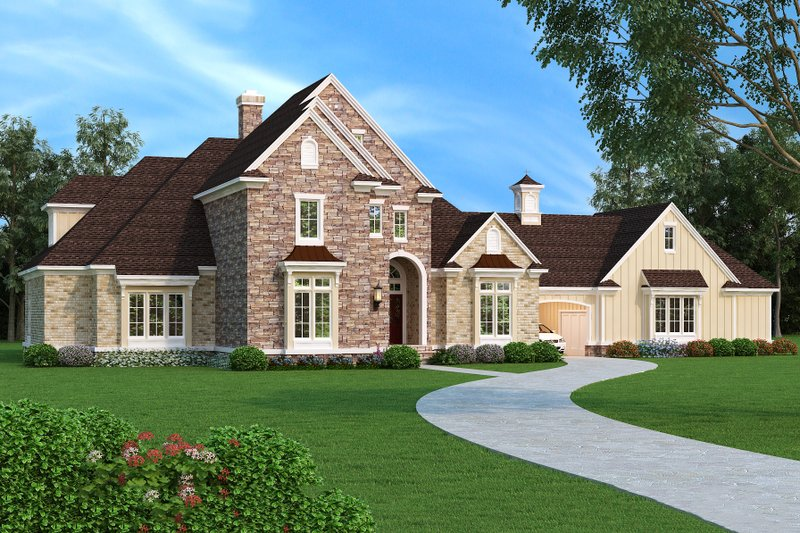 Dream House Plan - European Exterior - Front Elevation Plan #45-379