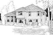 Traditional Style House Plan - 4 Beds 2.5 Baths 2411 Sq/Ft Plan #312-539 Exterior - Rear Elevation