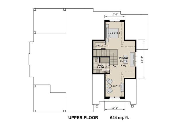 Contemporary Floor Plan - Upper Floor Plan Plan #51-587