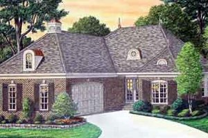 Architectural House Design - Southern Exterior - Front Elevation Plan #34-181