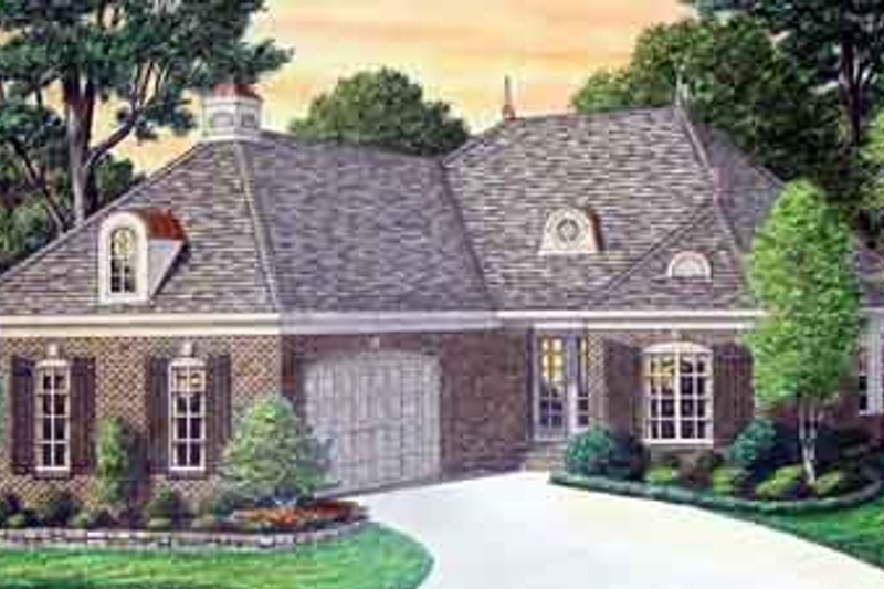 House Plan Design - Southern Exterior - Front Elevation Plan #34-181