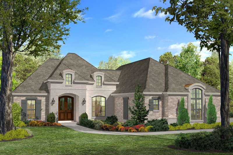 Dream House Plan - European Exterior - Front Elevation Plan #430-116