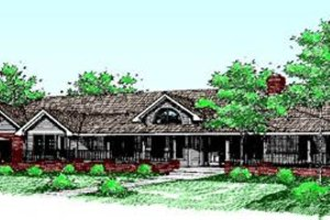 Ranch Exterior - Front Elevation Plan #60-207