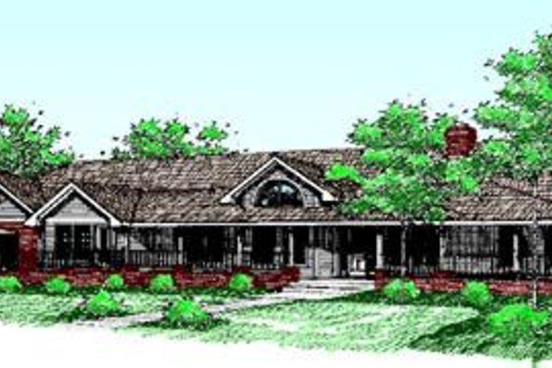 Ranch Exterior - Front Elevation Plan #60-207 - Houseplans.com