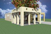 Modern Style House Plan - 3 Beds 2 Baths 1099 Sq/Ft Plan #495-1 Exterior - Rear Elevation
