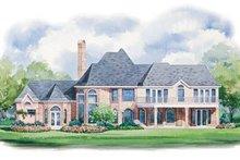 House Design - European Exterior - Rear Elevation Plan #20-1180