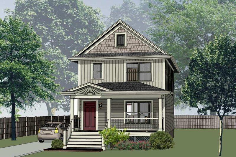 Architectural House Design - Craftsman Exterior - Front Elevation Plan #79-311