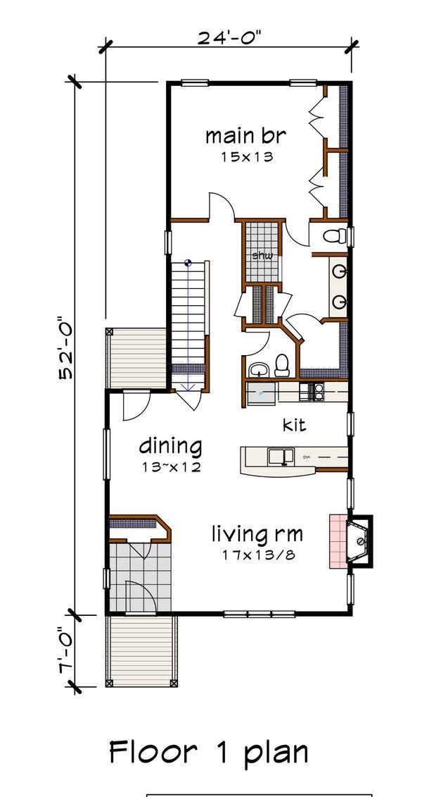 Modern Floor Plan - Main Floor Plan #79-323