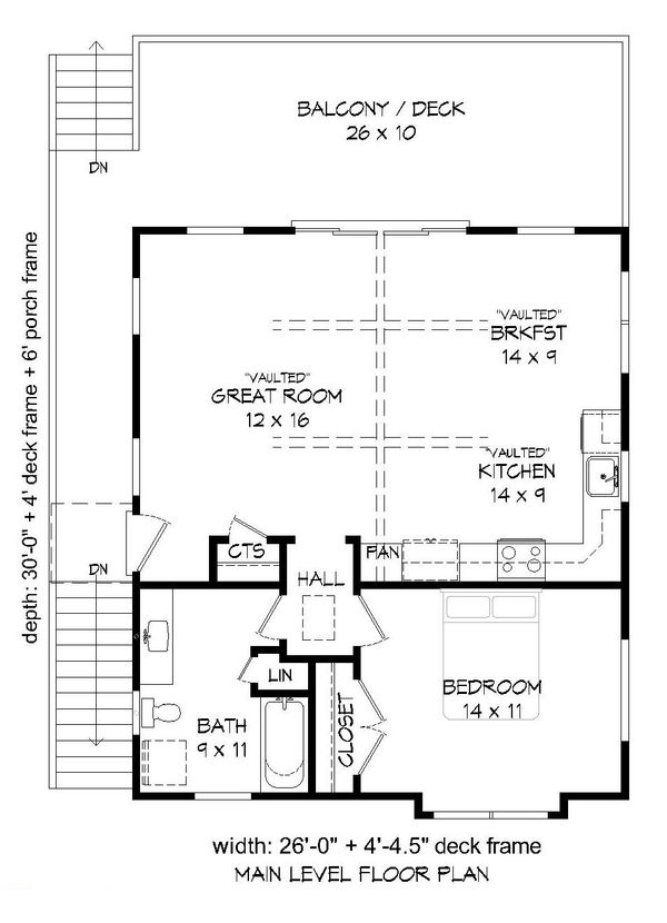 Country Floor Plan - Main Floor Plan #932-139