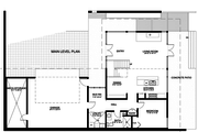 Modern Style House Plan - 2 Beds 3 Baths 1811 Sq/Ft Plan #498-2 Floor Plan - Main Floor Plan