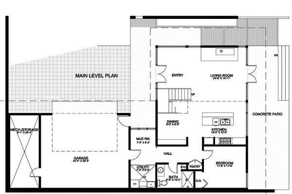 Modern Floor Plan - Main Floor Plan Plan #498-2